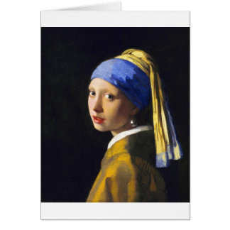 ~ Vermeer do brinco da pérola de w da menina Cartão Comemorativo