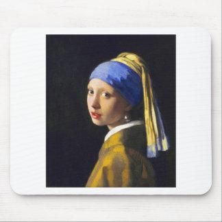 ~ Vermeer do brinco da pérola de w da menina Mouse Pad
