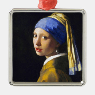 ~ Vermeer do brinco da pérola de w da menina Enfeites Para Arvore De Natal