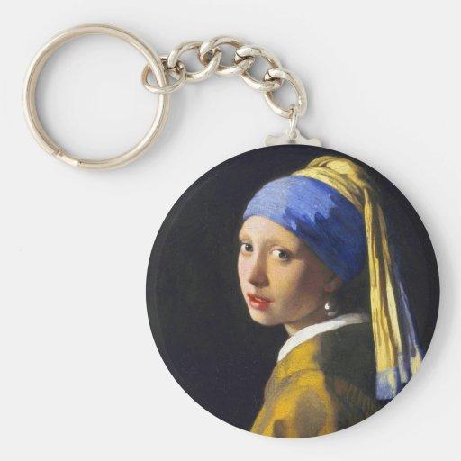 ~ Vermeer do brinco da pérola de w da menina Chaveiros