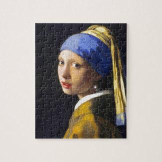 ~ Vermeer do brinco da pérola de w da menina Quebra-cabeças