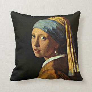 Vermeer: Menina com um brinco da pérola (2) Travesseiros De Decoração