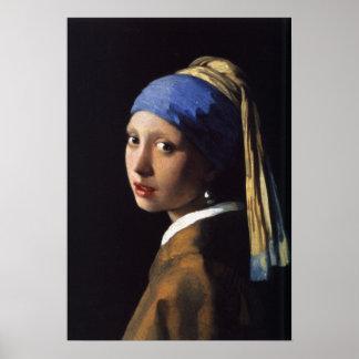 Vermeer - menina com um brinco da pérola - arte do pôsteres