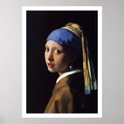 Vermeer - menina com um brinco da pérola - arte do impressão