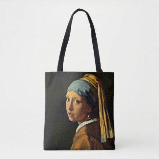 Vermeer - menina com um brinco da pérola bolsa tote