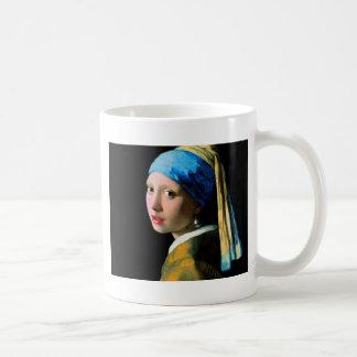 Vermeer - menina com um brinco da pérola caneca