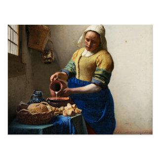 Vermeer o cartão do Milkmaid