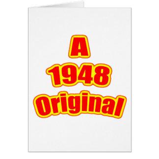 Vermelho 1948 original cartão