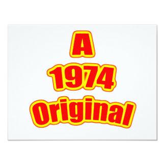 Vermelho 1974 original convite