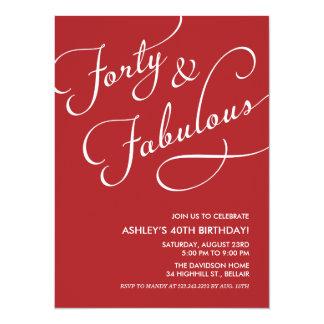 Vermelho 40 e convites fabulosos