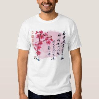 Vermelho asiático tshirts