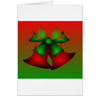 Vermelho Bels do Natal Cartao