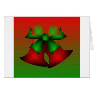 Vermelho Bels do Natal Cartoes