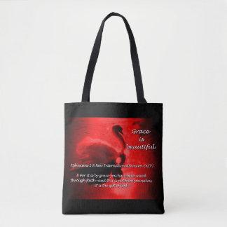 Vermelho bonito do Bolsa da cisne da benevolência