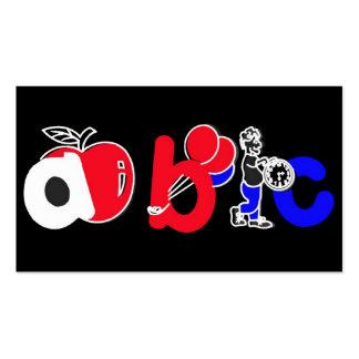 Vermelho branco azul preto logotipo do alfabe cartões de visita