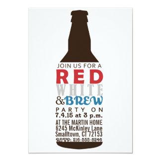 Vermelho, branco e convite de festas da