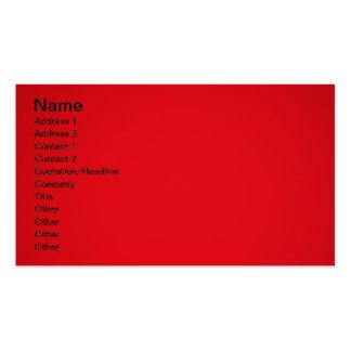 Vermelho brilhante cartão de visita