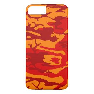 Vermelho Camo da lava Capa iPhone 7 Plus