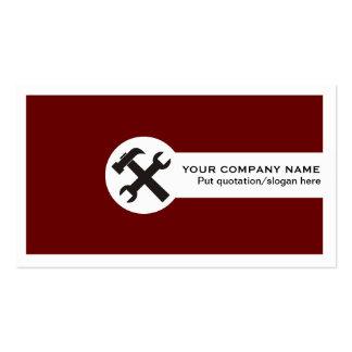 Vermelho cartão-profundo da indústria da cartoes de visita