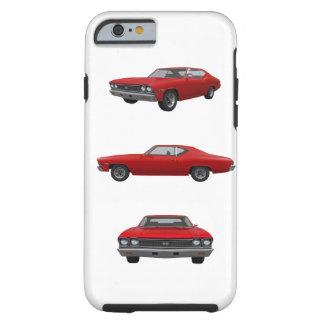 Vermelho Chevelle 1968 SS: Capa Tough Para iPhone 6