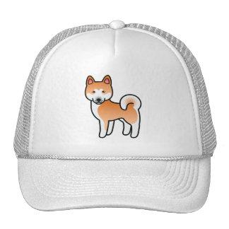 Vermelho com o cão branco dos desenhos animados de boné