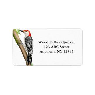 Vermelho customizável etiqueta inchada do pica-pau etiqueta de endereço