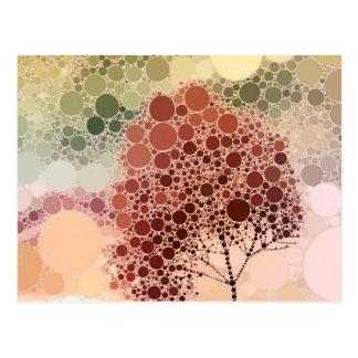 vermelho da árvore do efeito cartão postal