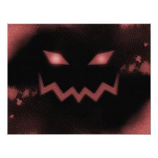 Vermelho da cara da Jack-o-Lanterna da abóbora do  Convites Personalizados
