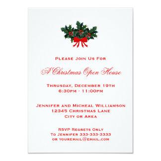 Vermelho da casa aberta ou do partido #2 do Natal Convite Personalizados