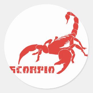 Vermelho da Escorpião Adesivos Em Formato Redondos
