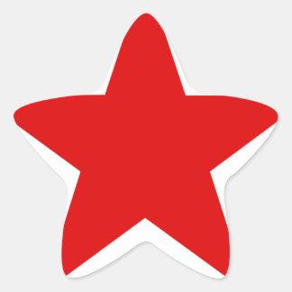★ vermelho da estrela adesito estrela
