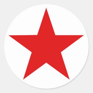 ★ vermelho da estrela adesivo