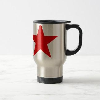 ★ vermelho da estrela caneca térmica
