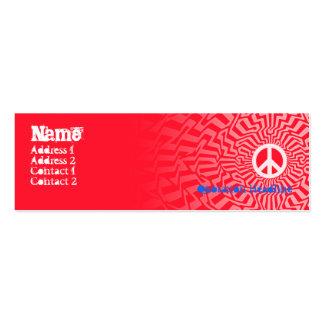 Vermelho da paz - magro cartão de visita skinny