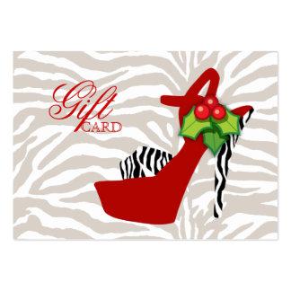 Vermelho da zebra dos calçados do cartão de presen cartao de visita