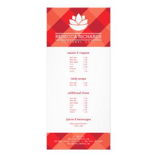 Vermelho de abastecimento saudável do menu dos 10.16 x 22.86cm panfleto