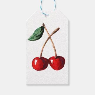 Vermelho de cereja etiqueta para presente