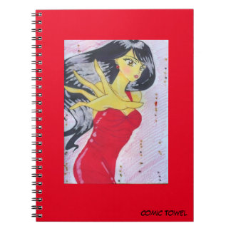 Vermelho de Emiko Cadernos Espiral