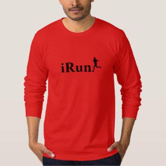 vermelho de Irún que funciona a camisa longa da Camisetas