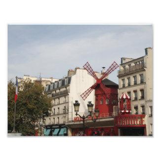 Vermelho de Moulin! Fotografia de Paris France,