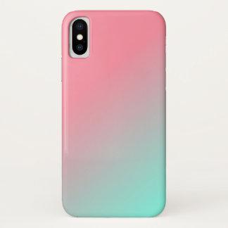 Vermelho de Ombre à capa de telefone azul