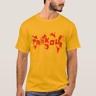 Vermelho de Parkour Camisetas