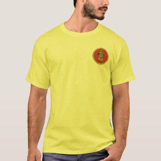 Vermelho de Subutai & camisa do selo do ouro