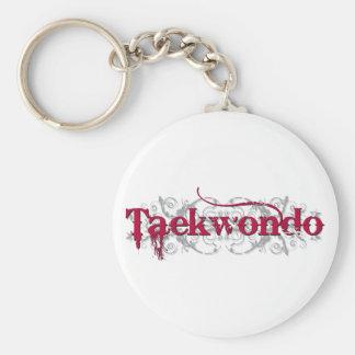 Vermelho de Taekwondo Chaveiro