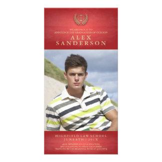 Vermelho do anúncio | da foto da graduação da cartão com foto