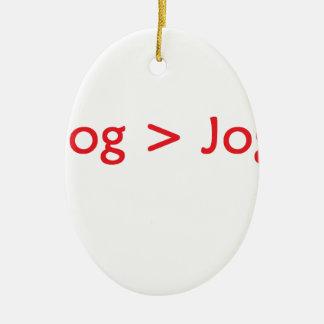 vermelho do blogue ornamento de cerâmica oval