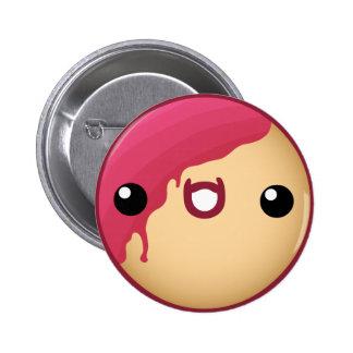 Vermelho do botão da rosquinha bóton redondo 5.08cm