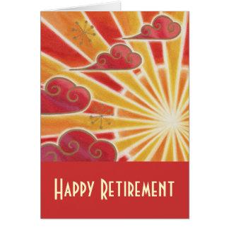 """""""Vermelho do cartão da aposentadoria feliz"""" do por"""