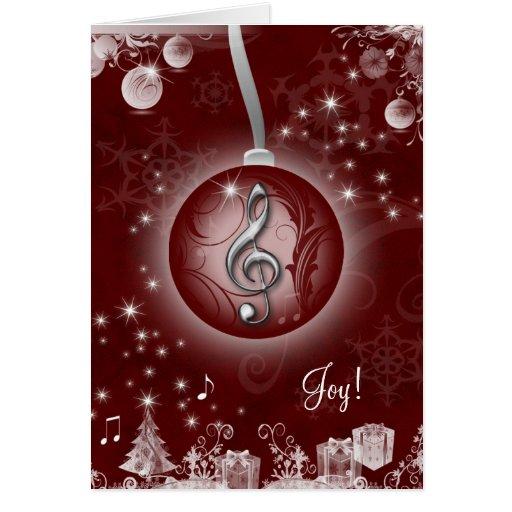 Vermelho do cartão de Natal da música