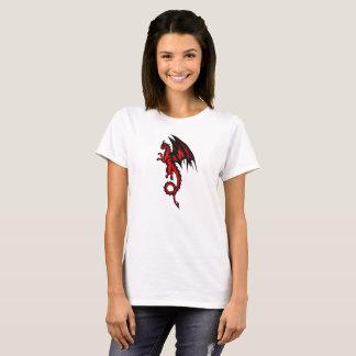 Vermelho do dragão camiseta